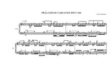Präludium variations for piano, BWV 846 MVWV 579: Präludium variations for piano by Johann Sebastian Bach, Maurice Verheul