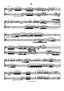 Konzert für zwei Cellos und Streicher in g-Moll, RV 531: Largo by Antonio Vivaldi