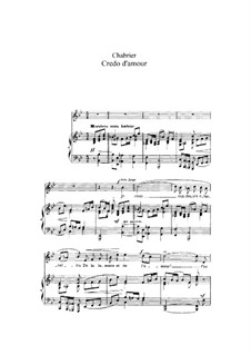 Credo d'amour: Credo d'amour by Emmanuel Chabrier