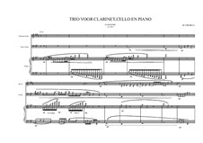 Grande trio No.1: For clarinet, cello and piano, MVWV 347 by Maurice Verheul