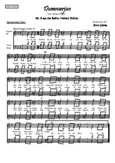 Heitere Dichter Nr.8: Dummerjan, Op.387: Heitere Dichter Nr.8: Dummerjan by Bernd Gehring