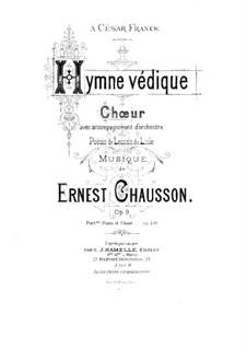 Vedische Hymne, Op.9: Vedische Hymne by Ernest Chausson