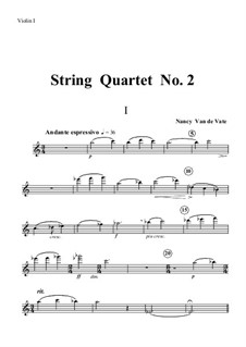 String Quartet No.2a: Stimmen by Nancy Van de Vate