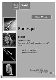 Burlesque: For brass sextet by Diego Minoia