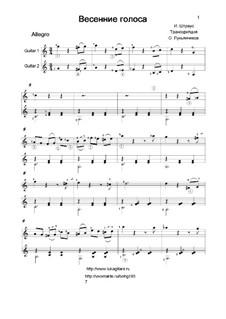 Frühlingsstimmen, Op.410: Für zwei Gitarren by Johann Strauss (Sohn)