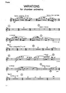 Variations for Chamber Orchestra: Stimmen by Nancy Van de Vate