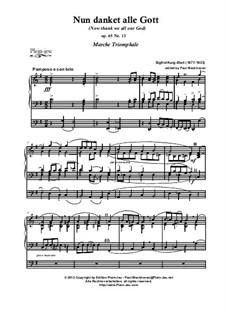 Choral-Improvisationen für Orgel, Op.65:  Nr.59 Nun danket alle Gott by Sigfrid Karg-Elert