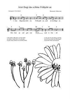 Jetzt fängt das schöne Frühjahr an: Lead sheet by folklore
