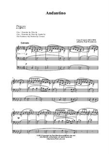 Andantino, Op. posth.: Andantino by César Franck