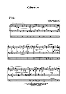 Offertoire in C minor, Op. posth.: Offertoire in C minor by César Franck