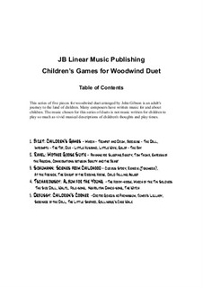 Selection of Pieces from Children's Games and Other Cycles: For clarinet and bassoon by Georges Bizet, Claude Debussy, Maurice Ravel, Robert Schumann, Pjotr Tschaikowski