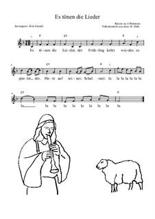 Es tönen die Lieder: Lead sheet by folklore