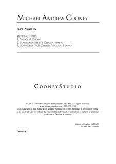 Ave Maria: Ave Maria by Michael Cooney