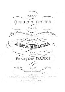 Holzbläserquintett in F-Dur, Op.56 No.3: Holzbläserquintett in F-Dur by Franz Ignaz Danzi