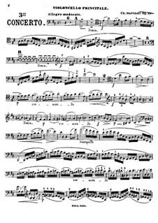 Cellokonzert Nr.3 in D-Dur, Op.18: Solostimme by Karl Dawidow