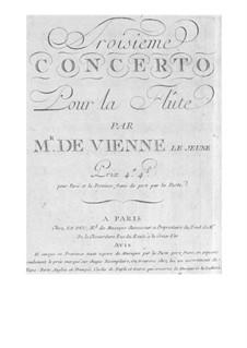 Konzert für Flöte und Orchester Nr.3 in G-Dur: Konzert für Flöte und Orchester Nr.3 in G-Dur by François Devienne