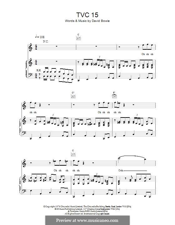 TVC15: Für Stimme und Klavier (oder Gitarre) by David Bowie