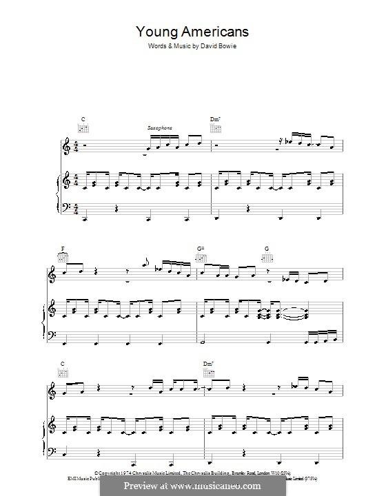 Young Americans: Für Stimme und Klavier (oder Gitarre) by David Bowie