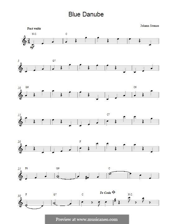 An der schönen blauen Donau, Op.314: Melodische Linie by Johann Strauss (Sohn)