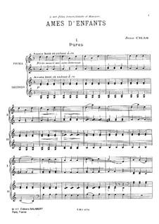 Ames d'enfants: Für Klavier, vierhändig by Jean Cras