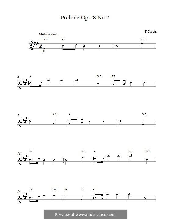 Nr.7 in A-Dur: Melodische Linie by Frédéric Chopin
