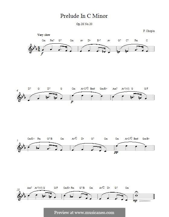 Nr.20 in c-Moll: Melodische Linie by Frédéric Chopin
