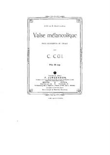 Melancholischen Walzer: Solostimme by César Cui
