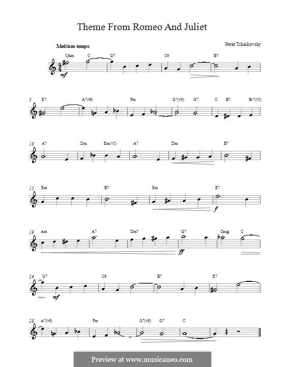 Love Theme: Melodische Linie by Pjotr Tschaikowski