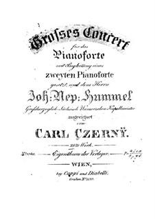 Grosses Klavierkonzert in F-Dur, Op.28: Klavierauszug by Carl Czerny