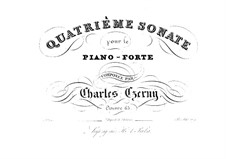 Sonate für Klavier Nr.4 in G-Dur, Op.65: Sonate für Klavier Nr.4 in G-Dur by Carl Czerny