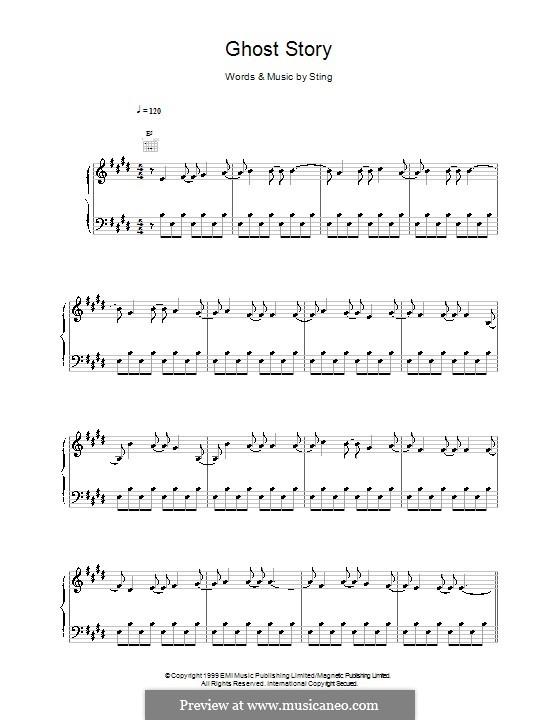 Ghost Story: Für Stimme und Klavier (oder Gitarre) by Sting
