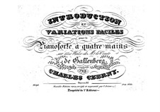 Introduction und Variationen für Klavier, vierhändig, Op.87: Introduction und Variationen für Klavier, vierhändig by Carl Czerny