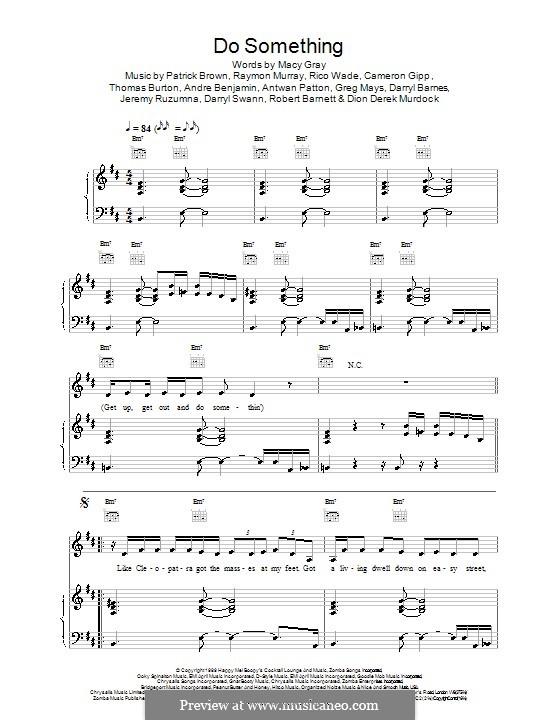 Do Something: Für Stimme und Klavier (oder Gitarre) by Macy Gray