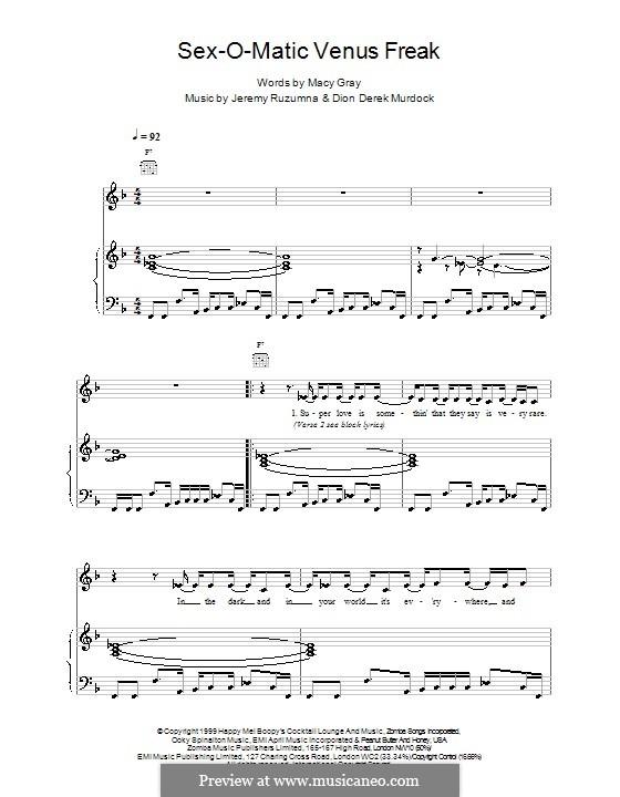 Sexomatic Venus Freak: Für Stimme und Klavier (oder Gitarre) by Macy Gray