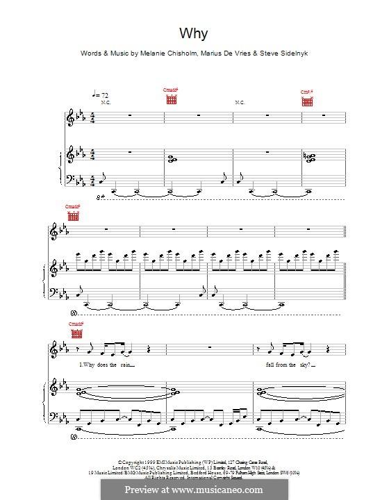 Why: Für Stimme und Klavier (oder Gitarre) by Melanie C