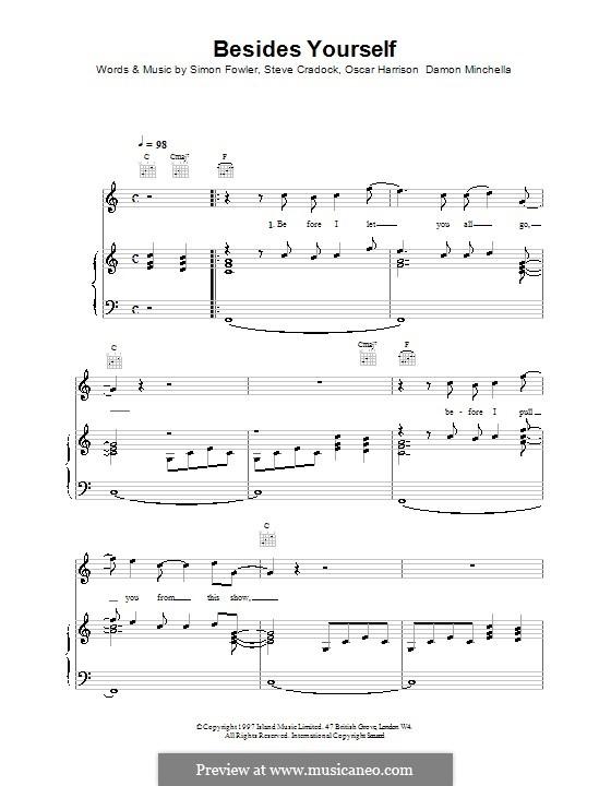 Besides Yourself (Ocean Colour Scene): Für Stimme und Klavier (oder Gitarre) by Damon Minchella, Oscar Harrison, Simon Fowler, Steve Cradock