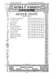 Höre mein Gebet, o Gott: Höre mein Gebet, o Gott by Arthur  Foote