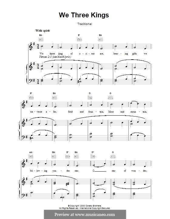 We Three Kings of Orient are: Für Stimme und Klavier (oder Gitarre) by John H. Hopkins Jr.