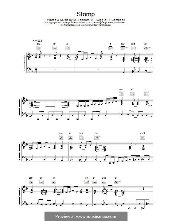Stomp (Steps): Für Stimme und Klavier (oder Gitarre) by Bernard Edwards, Karl Twigg, Mark Topham, Nile Rodgers, Rita Campbell