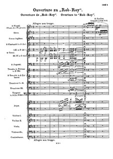Rob-Roy. Ouvertüre, H.54: Vollpartitur by Hector Berlioz