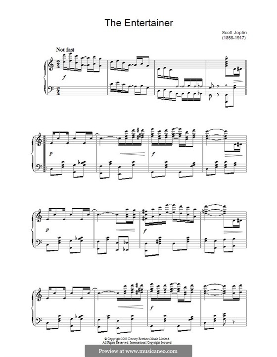 The Entertainer, für Klavier: Für einen Interpreten by Scott Joplin