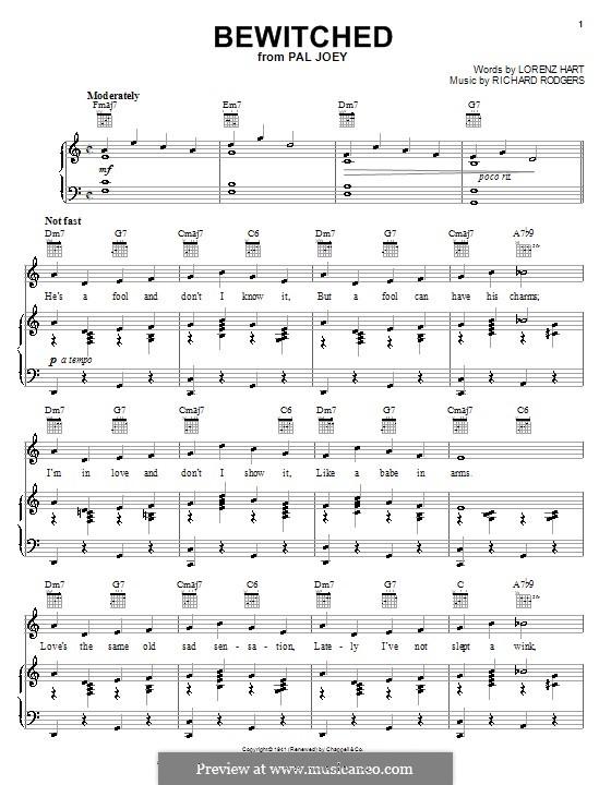 Bewitched (The Betty Smith Group): Für Stimme mit Klavier oder Gitarre by Richard Rodgers