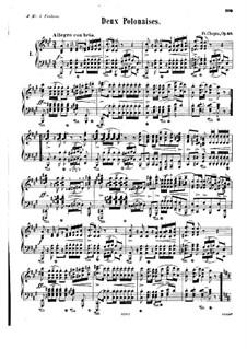 Polonäsen, Op.40: Nr.1 für Klavier in A-Dur by Frédéric Chopin
