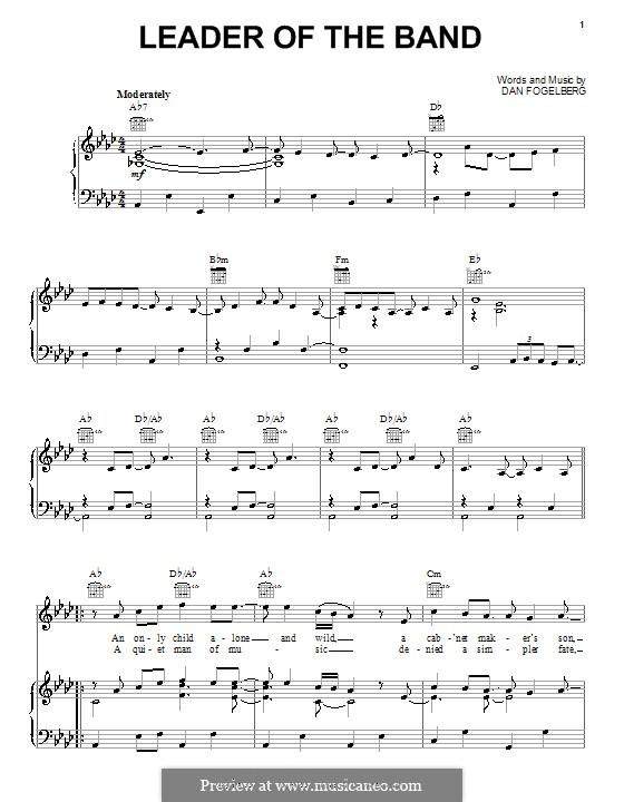 Leader of the Band: Für Stimme und Klavier (oder Gitarre) by Dan Fogelberg