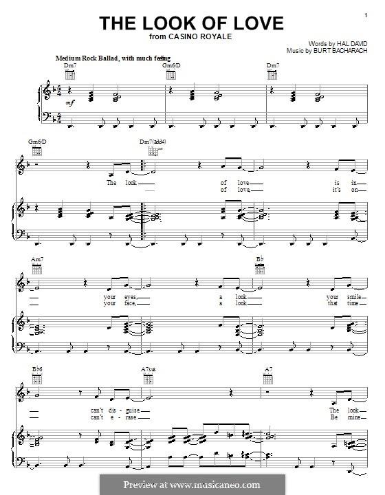 The Look of Love: Für Stimme mit Klavier oder Gitarre (Diana Krall) by Burt Bacharach