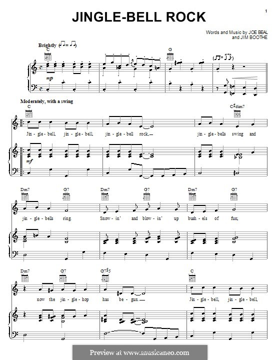 Jingle Bell Rock: Für Stimme mit Klavier oder Gitarre (Bobby Helms) by Jim Boothe, Joe Beal