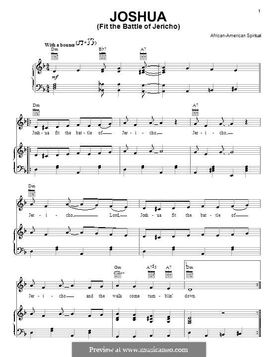 Joshua Fit the Battle of Jericho: Für Stimme und Klavier (oder Gitarre) by folklore