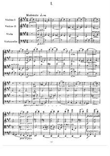 Streichquartett Nr.1 in A-Dur: Vollpartitur by Alexander Porfiryevich Borodin