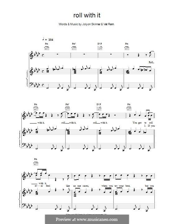Roll with It (Backstreet Boys): Für Stimme und Klavier (oder Gitarre) by Joylon Skinner, Veit Renn