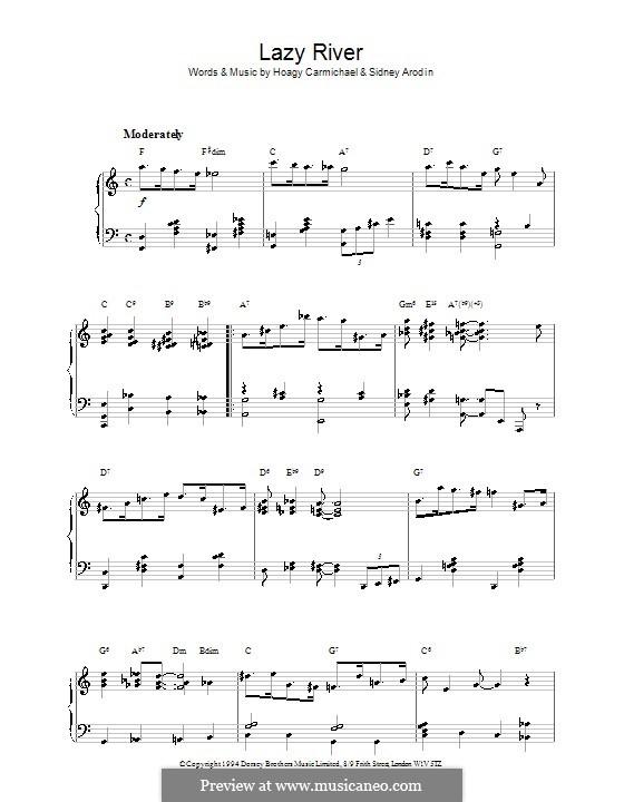 Lazy River (Bobby Darin): Für Klavier by Hoagy Carmichael, Sidney Arodin